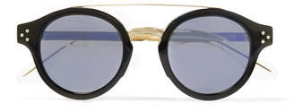 Cutler and Gross Round-Frame Gold-Tone And Acetate Sunglasses