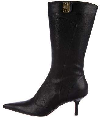 a. testoni a.testoni Leather Pointed-Toe Boots