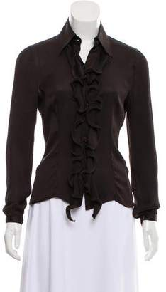 Kiton Silk Button-Up Top