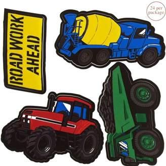 Brylane Construction Trucks Wall Stickers 24pc Roadwork Decals