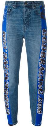 Golden Goose Deluxe Brand racing stripe tapered jeans