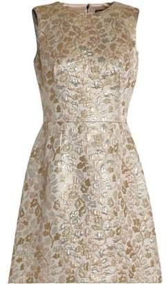 Dolce & Gabbana Silk-Blend Brocade Mini Dress