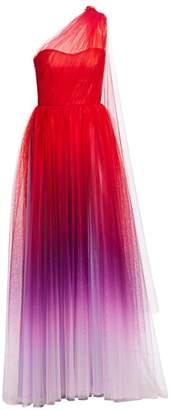 Monique Lhuillier Ombre One-Shoulder Gown