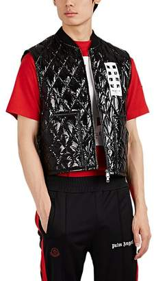 Palm Angels 8 MONCLER Men's Selong Lacquered Down-Quilted Vest - Black