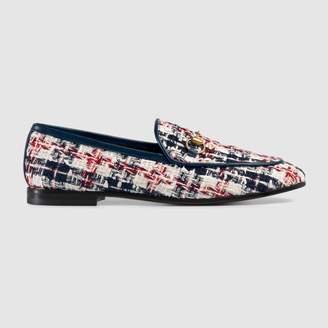 Gucci Jordaan tweed check loafer