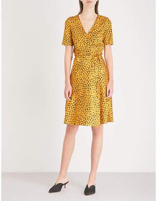 Diane von Furstenberg Marigold-print silk-satin wrap dress