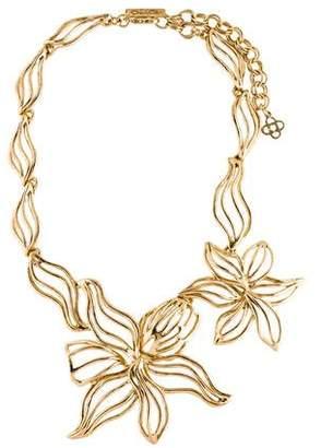 Oscar de la Renta Flower Collar Necklace