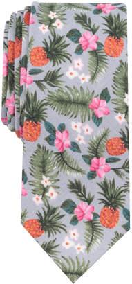 Bar III Men's Gozo Floral Skinny Linen Tie, Created for Macy's