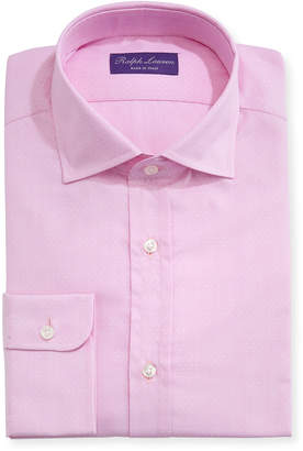 Ralph Lauren Solid Dobby Cotton Dress Shirt