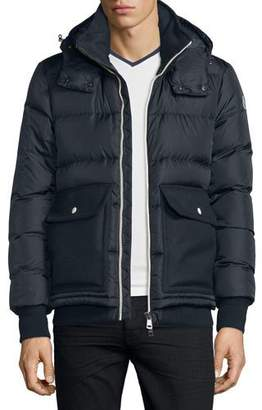 Moncler Rabelais Quilted Down Jacket, Navy $1,485 thestylecure.com