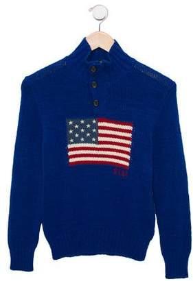 Polo Ralph Lauren Boys' Flag Intarsia Knit Sweater