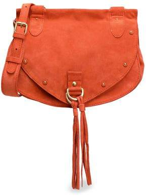 See by Chloe Collins Tasseled Suede And Leather Shoulder Bag