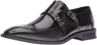 Stacy Adams Men's Brewster Double Monk Strap Wingtip Slip-on Loafer
