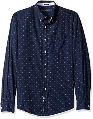 U.S. Polo Assn. Men's Long Sleeve Slim Fit Fancy Shirt