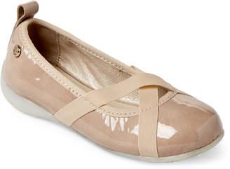 Naturino Toddler/Kids Girls) Beige Crisscross Ballet Flats