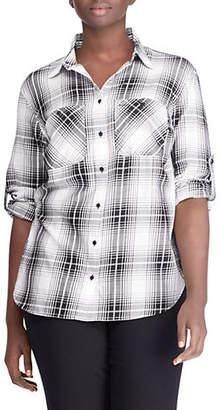 Lauren Ralph Lauren Plus Printed Cotton Button-Down Shirt