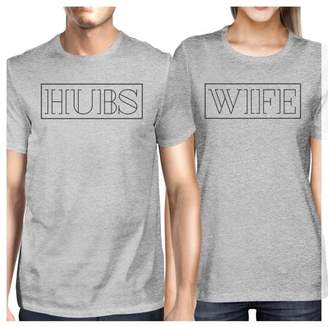 365 Printing Hubs And Wife Matching Couple Outfits Short Sleeve T-Shirts Grey