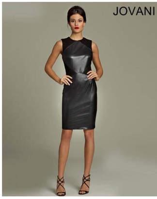 Jovani Black Leather Dress