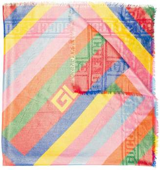 Gucci coated colour block shawl