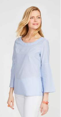 J.Mclaughlin Coretta Bell Sleeve Shirt in Stripe