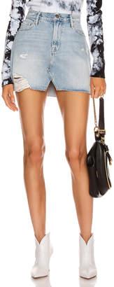 Frame Le Mini Skirt Split Front in Soho | FWRD