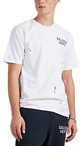 Gallery Department Men's Paint-Splattered Cotton T-Shirt - White