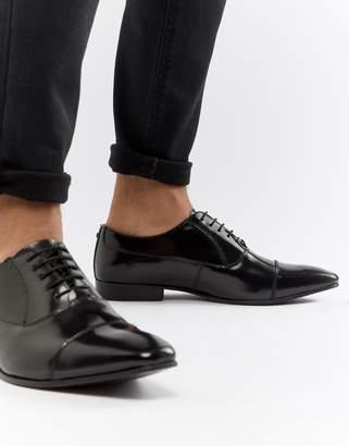 WALK LONDON Walk London City Leather Hi Shine Oxford Shoes
