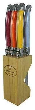 Laguiole By Louis Thiers Carnaval Multi Coloured Handles in Wood Block