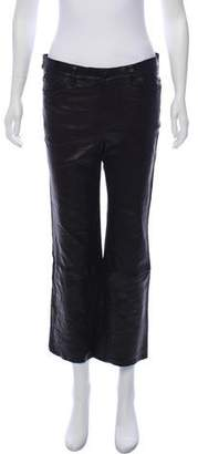 J Brand Leather Mid-Rise Pants w/ Tags