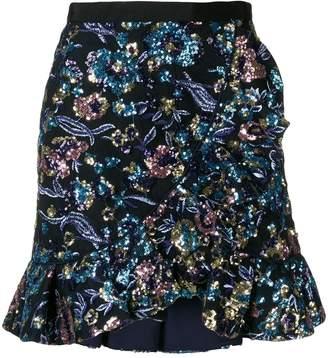 Self-Portrait sequin embellished skirt