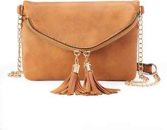 Deluxity Tessa Tasseled Crossbody Bag