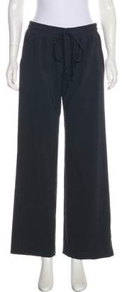Milly High-Rise Wide-Leg Sweatpants