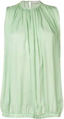 L'Autre Chose sleeveless pleats blouse