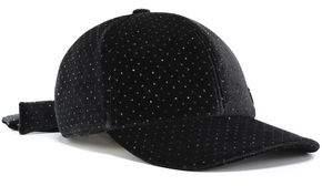 Maison Michel Tiger Bow-embellished Polka-dot Velvet Baseball Cap