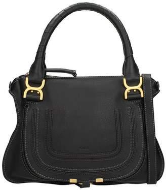 Chloé Marcie Medium Black Leather Shoulder Bag