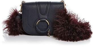 See by Chloe Hana Small Leather & Lamb Fur Crossbody