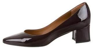 Aquatalia Patent Leather Pointed-Toe Pumps