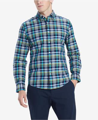Tommy Hilfiger Men Finch Custom-Fit Stretch Plaid Twill Shirt