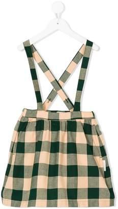 Tiny Cottons check woven brace skirt