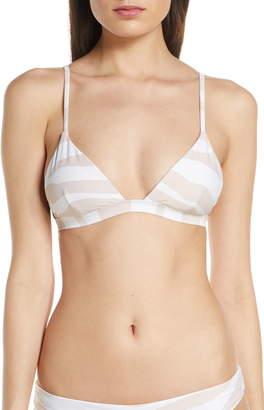 Onia Danni Textured Triangle Bikini Top