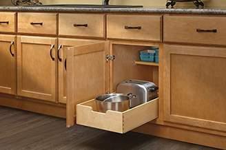 Rev-A-Shelf - 4WDB-15 - Medium Wood Base Cabinet Pull-Out Drawer