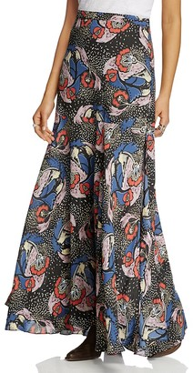 Free People Pebble Crepe Maxi Skirt $128 thestylecure.com
