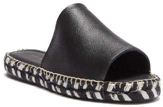 Matt Bernson Palma Leather Peep Toe Slide Sandal