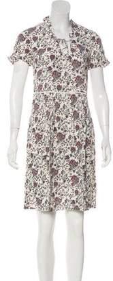Comptoir des Cotonniers Pleated Knee-Length Dress