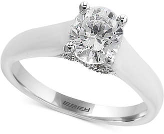 Effy Infinite Love Diamond Solitaire Engagement Ring (1 ct. t.w.) in 18k White Gold