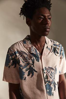 NATIVE YOUTH Tropical Floral Short Sleeve Button-Down Shirt