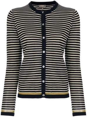 N.Peal striped cardigan