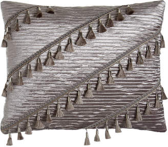 "Sweet Dreams Geordi Pleated Velvet Pillow, 16"" x 20"""