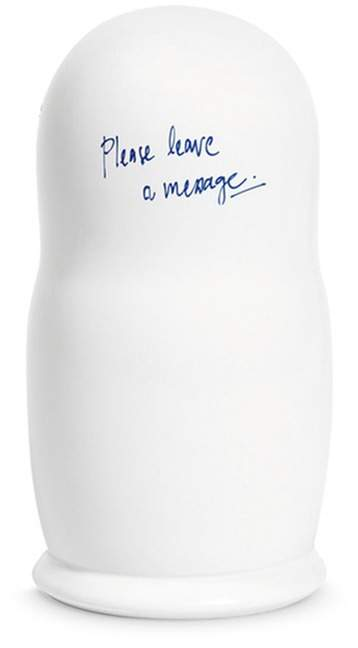 L'ATELIER d'exercices 'Please leave a message' ceramic Russian doll by Maison Margiela