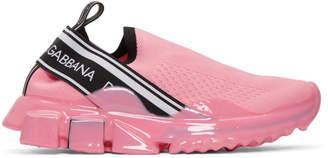 Dolce & Gabbana Pink Mesh Sorrento Melt Sneakers